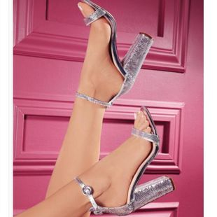 Fashion large size thick with shiny alloy high heel sandals NHSO145536's discount tags