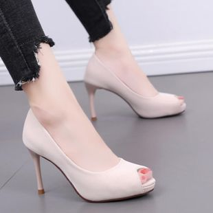European and American fish mouth high-heeled shallow mouth waterproof platform shoes NHSO145572's discount tags