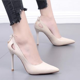 Fashion stiletto pointed bow bow openwork  shoes NHSO145571's discount tags