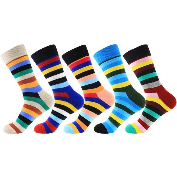 New classic color striped unesex tube cotton socks NHZG145665