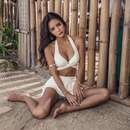 Fashion thick sexy white flat chest swimsuit NHXW145480