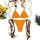 Fashion multi-rope solid color female bikini NHHL145504