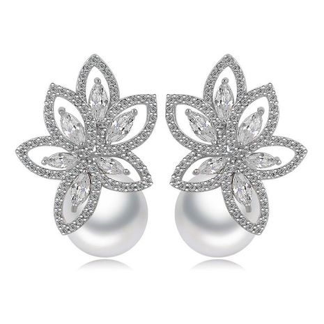 Korean fashion AAA zircon beaded beads earrings NHTM145715's discount tags