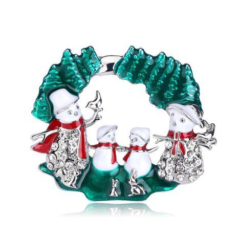 Diamante de dibujos animados Navidad muñeco de nieve goteando broche de aceite NHDR145765's discount tags