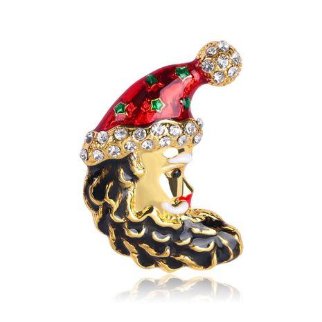 Broches de aleación de aceite de gota de sombrero de Navidad para mujer NHDR145780's discount tags