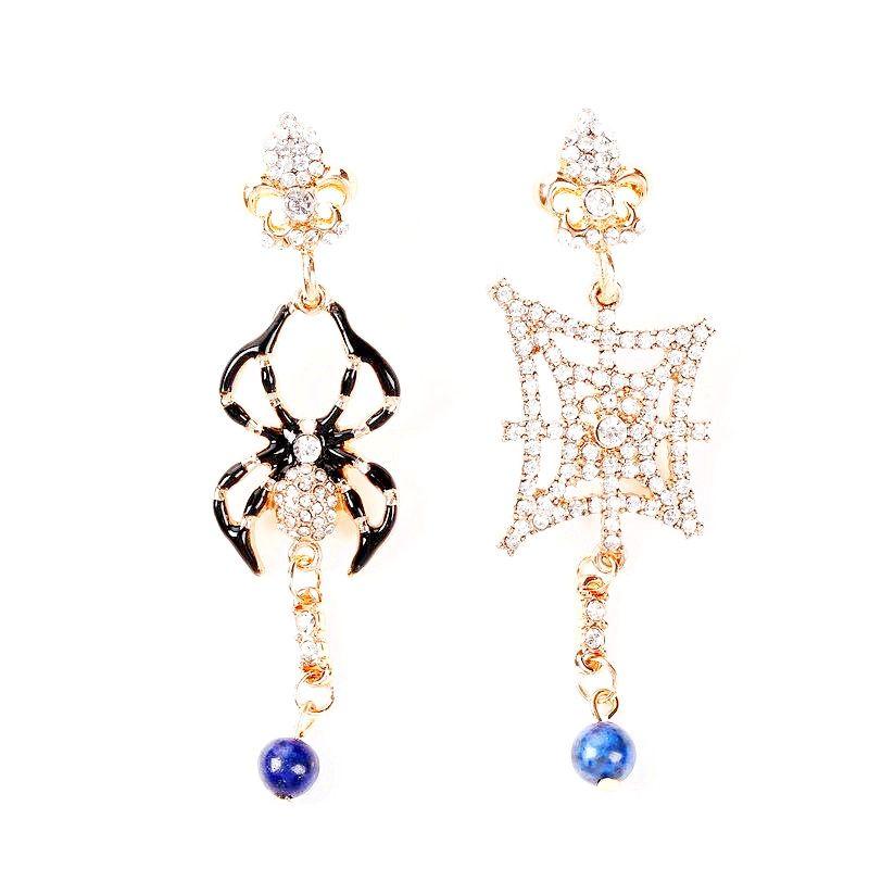 Creative Spider Halloween Rhinestone Earrings NHHN145785