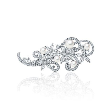 Korean version of AAA zircon fashion exquisite brooch NHTM145821's discount tags