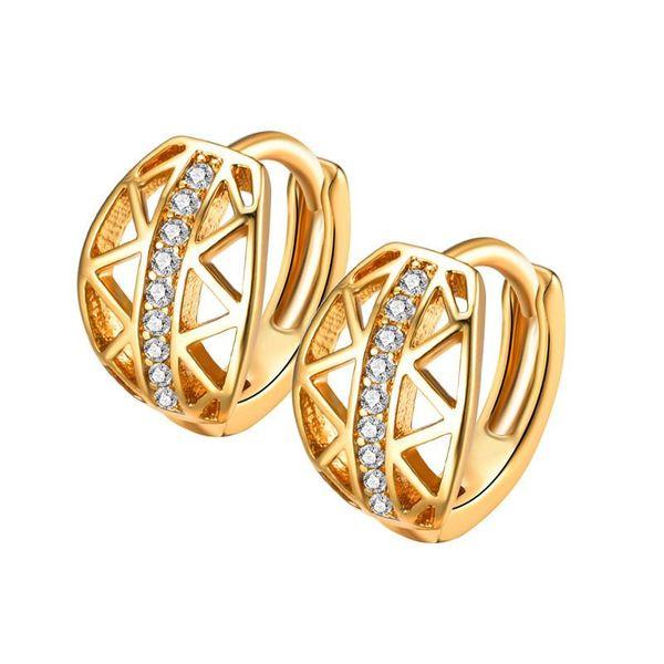Korean version of zircon flash rhinestone copper plated alloy earrings NHIM145828