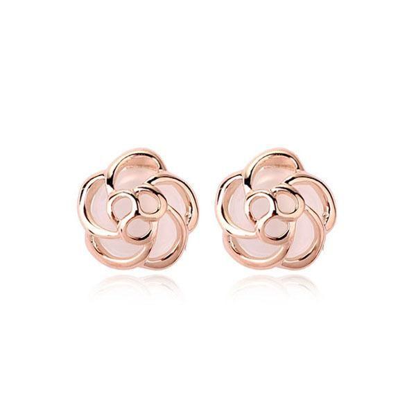Cute delicate opal flower earrings NHLJ145853