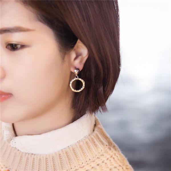 Womens Geometry Electroplated Metal Earrings NHIM145872