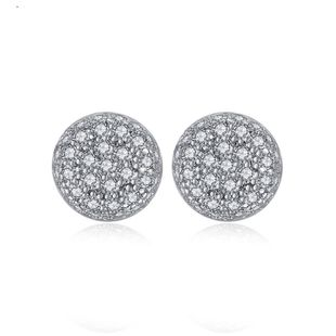 Korean version of the simple pavé small ladies copper inlaid zirconium studs NHTM145873's discount tags