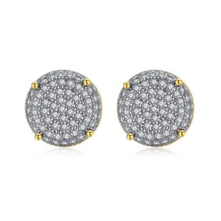 Womens Round Copper Inlay Zircon Earrings NHTM145874's discount tags