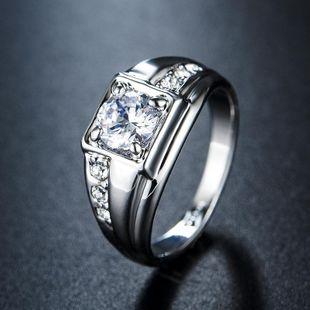 Sleek minimalist zircon ring NHLJ145877's discount tags