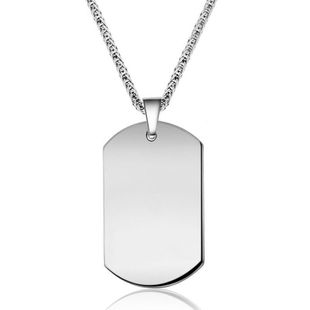 European and American stainless steel men's necklace NHIM145878's discount tags