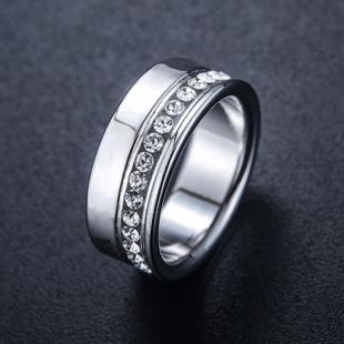 Creative rhinestone-plated white alloy ring NHLJ145880's discount tags