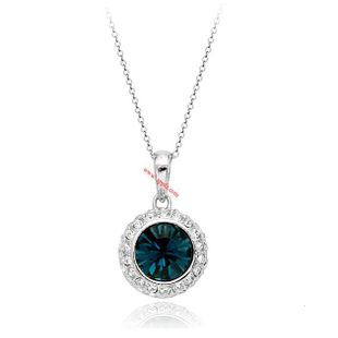 Delicate rhinestone round zircon necklace NHLJ145882's discount tags