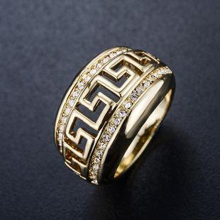 Fashion Rhinestone Pattern Openwork Ring NHLJ145883's discount tags