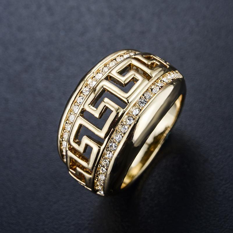 Anillo calado de patrn de diamantes de moda NHLJ145883