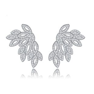 Fashion flowers with rhinestone stud earrings NHTM145884's discount tags