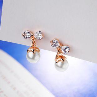 Stylish temperament wild zircon beads ear clip NHLJ145886's discount tags