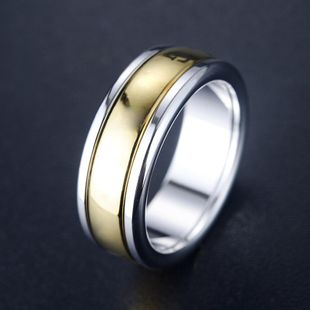 Simple glossy alloy stainless steel ring NHLJ145888's discount tags