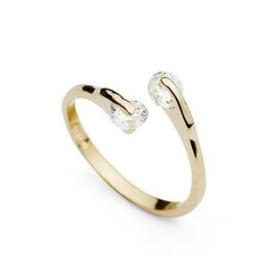 Fashion Imitated crystal Open Glossy Ring NHLJ145897's discount tags