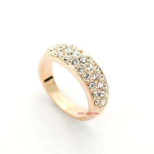 Stylish and simple full rhinestone alloy ring NHLJ145903's discount tags