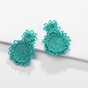 Fashion rice beads handmade drop round earrings NHLU145904's discount tags