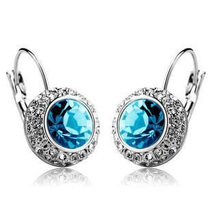 Fashion full rhinestone round imitated crystal earrings NHLJ145909