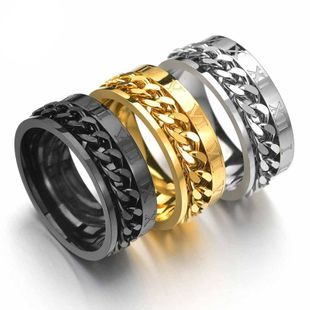 European and American explosion models turn stainless steel ring NHHF145914's discount tags
