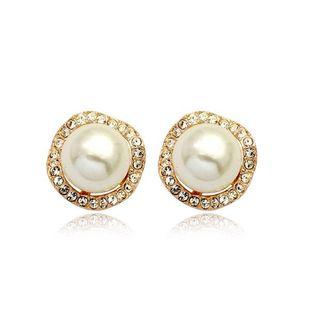 Fashion atmosphere beads ball micro-encrusted ear clip NHLJ145917's discount tags