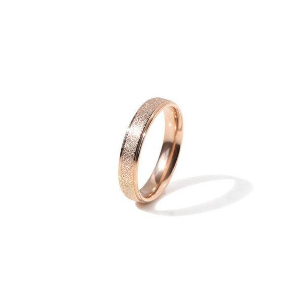 Fashion rose alloy non-fading titanium steel color alloy matte ring NHIM145920