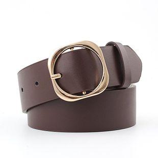 Fashion vintage metal square buckle women belt NHPO145937's discount tags