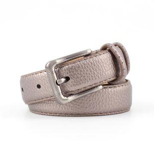 New metal buckle stone pattern PU women belts NHPO145940's discount tags