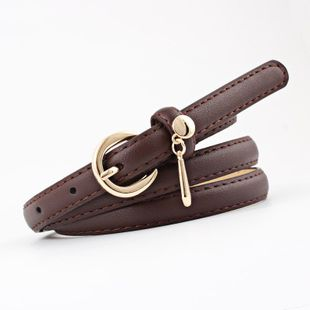 New solid color metal buckle women belts NHPO145947's discount tags