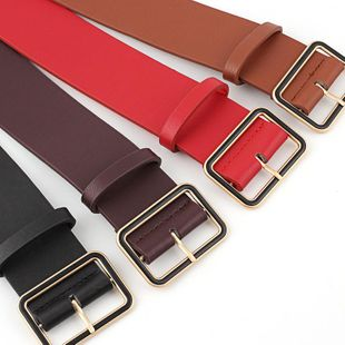 Fashion solid color metal buckle women belts NHPO145954's discount tags