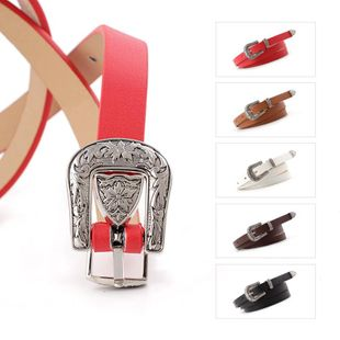 Fashion metal carved PU thin women belts NHPO145955's discount tags