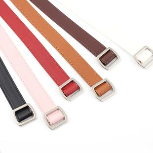 New non-porous alloy square buckle PU women belt NHPO145957's discount tags