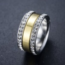 European and American personality hipsters double row rhinestone ring NHLJ145735