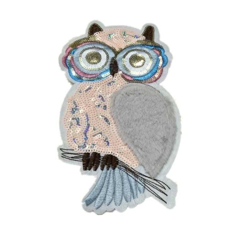 Embroidered Owl Leather Cloth Patch Patch NHLT145967