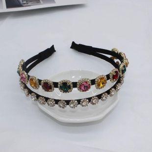 Korean version of the two-layer full rhinestone jewel headband NHWJ146011's discount tags
