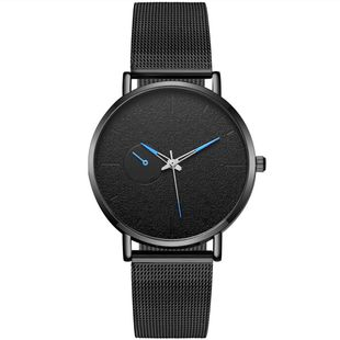 Fashion simple gun black mesh with casual watches NHSY146022's discount tags