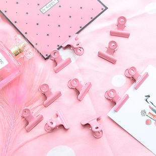 Cute pink metal round tail clip NHHE146029's discount tags