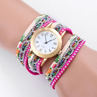 Fashion color rhinestone rivet winding female watch NHSY146035's discount tags