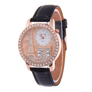 Fashion embossed Eiffel Tower rhinestone watch NHSY146041's discount tags