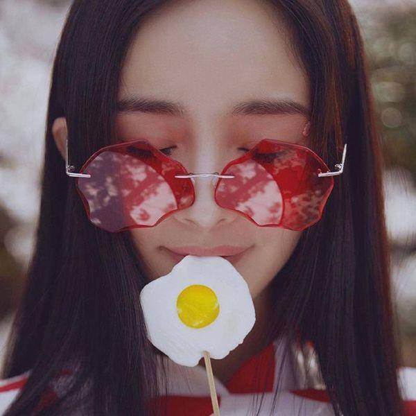 Fashion Cloud Shaped Irregular Sunglasses NHKD146045