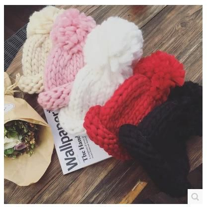 Cute wild thick warm knit hat NHHY146073