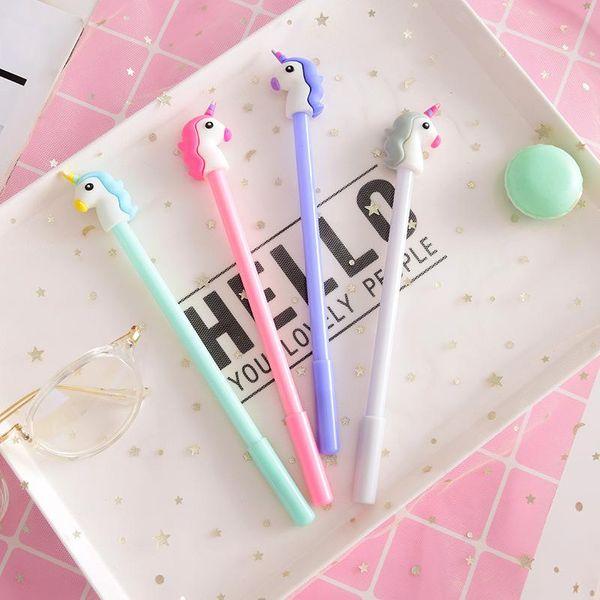 Japanese and Korean girl heart cartoon unicorn gel pen NHHE146081