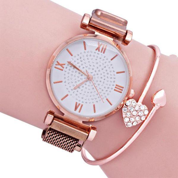 Fashion starry magnet stone watch NHMM146169