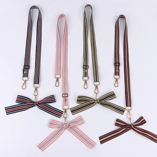 Simple striped bow phone case lanyard NHJP146204's discount tags